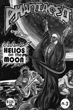 Helios on the Moon, bw versions of front cover for pH-3, art by Richard Sandoval, 1978