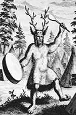 Nicolaes Witsen's 1692 depiction of a Siberian shaman, taken from the Free Dictionary on Shamanism