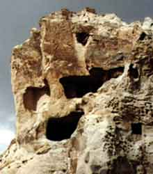 Fuller version of a  cliff-head spotted in Cappadocia Turkey, photos by Jim McPherson, 2003