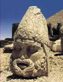 Gigantic head spotted in Turkey, from a postcard bought in 2003