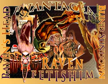 The Raven Fetishim collage, prepared by Jim McPherson in 2007 using pictures mostly taken in Mexcio in 2005