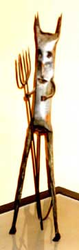 Shot of a statuette of Exu, photo taken by Jim McPherson, 2006