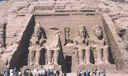 Abu Simbel Temple Complex, photo and adjustment by Jim McPherson, ca 2002