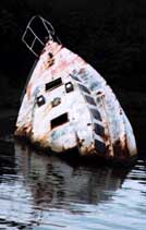 Boat head spotted off shore of an Island in Honduras, photo by Jim McPherson, 2003
