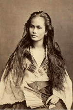 uncredited photo of a Lamia Lou type in the 1880s; image taken from Web