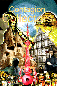 Cover for the Contagion Collectors, artwork prepared by Jim McPherson, 2010