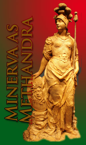 Methandra as Minerva, collage by Jim McPherson
