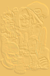 Embossed version of Fangers cover, prepared by JIm McPherson, 2011