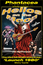 2014 promo for Helios on the Moon novel, artwork by Ricardo Sandoval, 2014