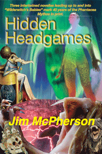 Hidden Headgames front cover, collage prepared by Jim McPherson, 2017