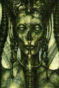 [ANOTHER OF H.R. GIGER'S DEPICTIONS OF LILITH, CAIN'S MOTHER AND THE QUEEN OF DEMONS; IMAGE FOUND ON THE THE WORLDWIDE WEB]