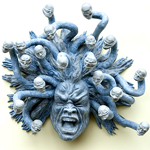 Paper mache Medusa shot in Venice by Jim McPherson, 2008