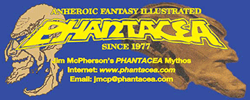 Two of Jim McPherson's Phantacea business cards