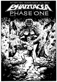 Cover for Phase One 2, artwork by Ian Bateson, 1985/6