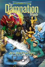 Front cover for DB graphic novel, artwork by Ian Bateson, 2012, with additions by Chris Chuckry, 2012