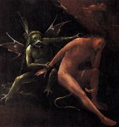 Small detail from Hell by Bosch in Venice, taken from Web