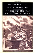 Cover of the penquin edition of a novel by ETA Hoffman featuring Tomcat Murr